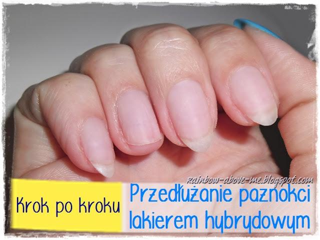 przedłużanie paznokci hybrydą sposób na złamany paznokieć