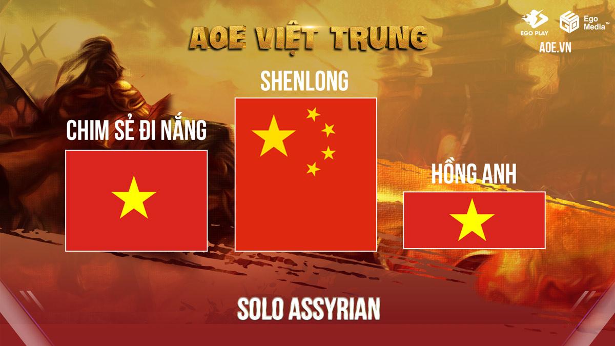 Tổng hợp kết quả AoE Việt Trung Thập Bát Tinh Tú Tranh Hùng