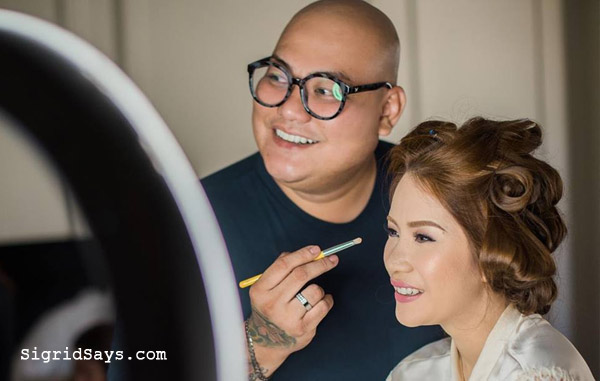 bridal makeup - Bacolod wedding suppliers - Carlos Durana