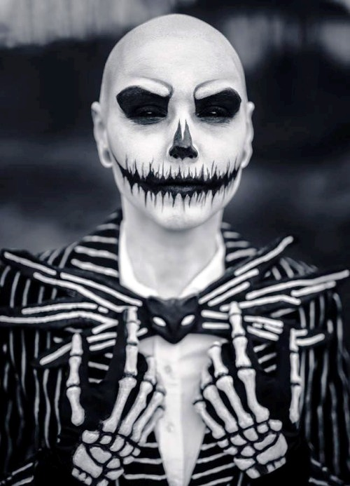 Halloween Make Up Skelet.Happy Halloween Day 24 Skeleton Halloween Makeup Ideas