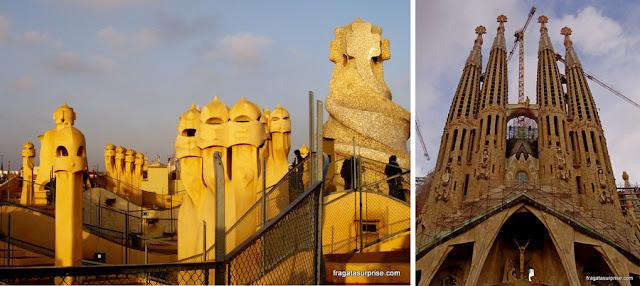 Gaudí em Barcelona: La Pedrera e Sagrada Família