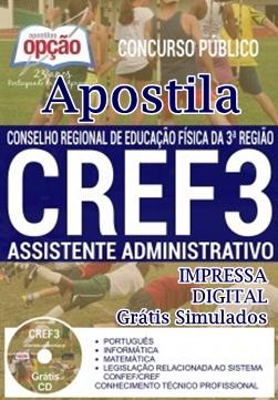 Apostila concurso CREF3-SC 2018 Assistente Administrativo