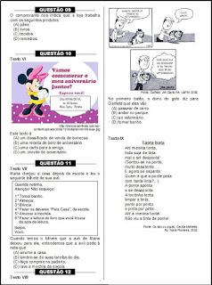 Simulado de português - 3º ano