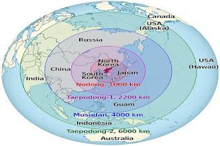 Jangkauan Rudal Korea Utara