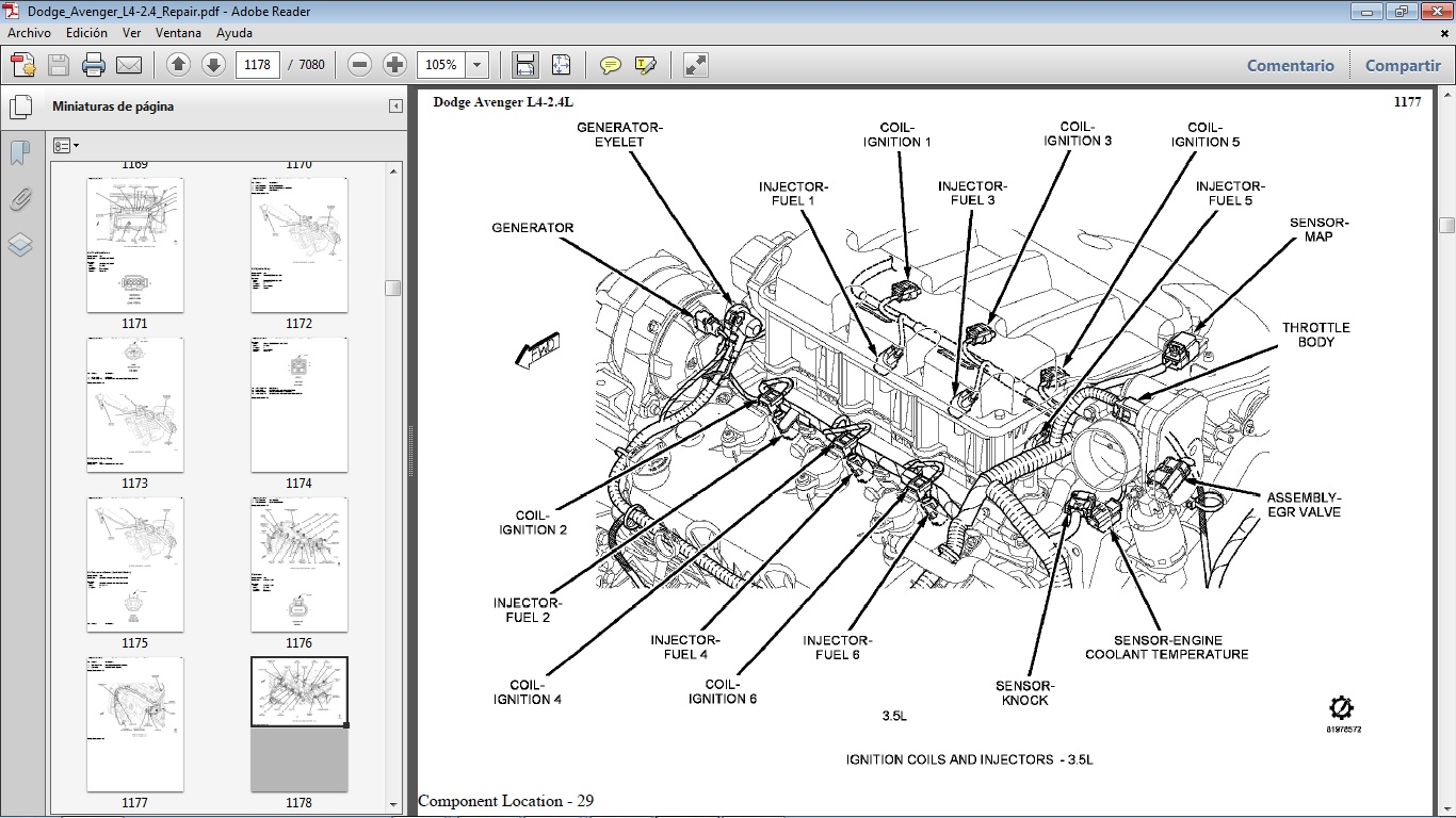 diagrama de motor dodge journey