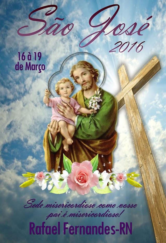 Festa do co-padroeiro de Rafael Fernandes, São José terá início nesta quarta (16)