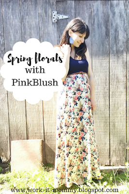 Spring florals with PinkBlush