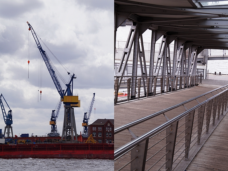 Hamburg Hafen Hafenrundfahrt Landungsbrücken Kran