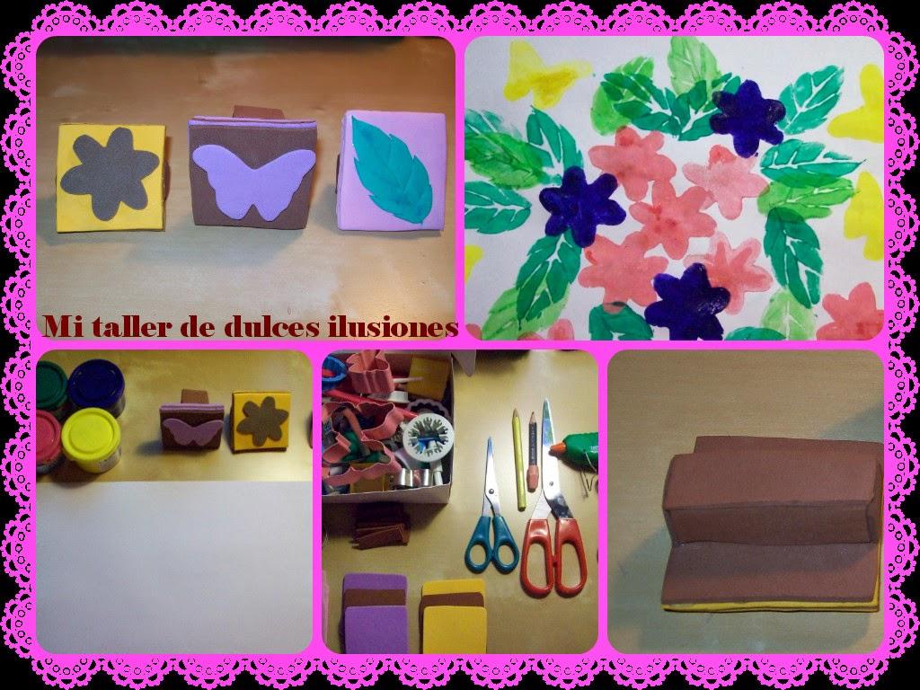 http://mitallerdedulcesilusiones.blogspot.com.es/2014/04/manualidades-crruzadassellos-de-goma.html