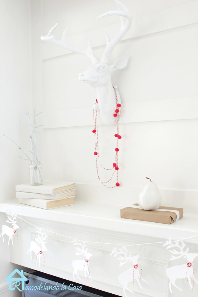 valentine's day mantel - white on white decor