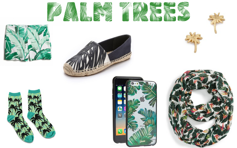 palm trees leaves trend fashion style