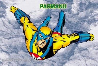Parmanu flying Alone Raj Comics