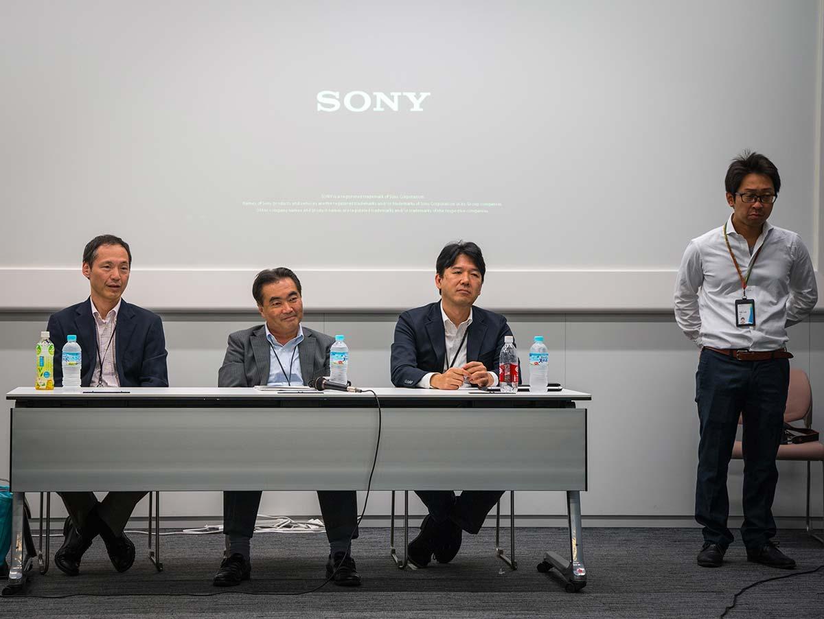 Встреча инженеров Sony и журналистов в Токио
