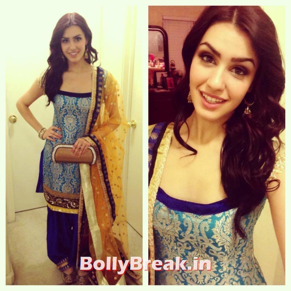 Punjabi Jatti Girl in low neck parallel suit, Punjabi Jatti Girl Pics in Punjabi Suit