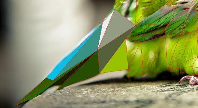 triangulation coreldraw, low poly, tutorial triangulation