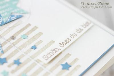 Babykarte Junge; Karte zur Geburt; Babyworkshop; Geschenke zur Geburt; Stampin' Up Zum Nachwuchs; stempel-biene; Stampinup Babyparty