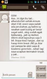 Testimoni Obat Wasir dan Ambeyen Ambe Joss dan Salwa De Nature Indonesia