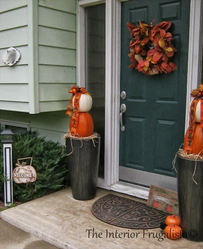 Pumpkin Topiary to welcome guests during the Fall Season.