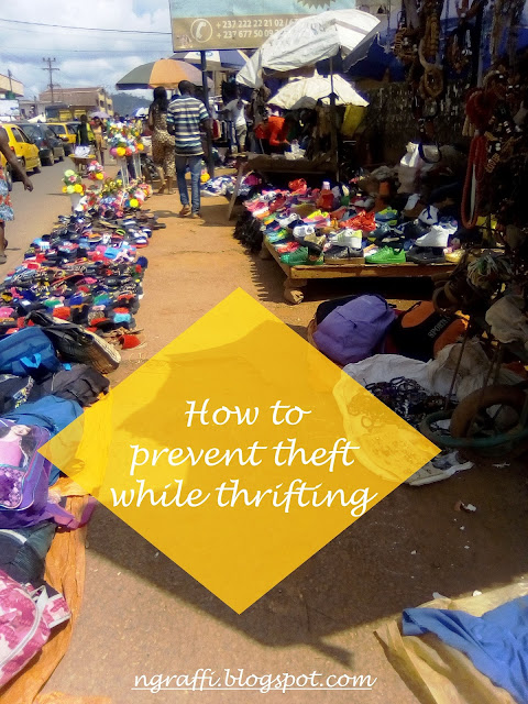 how to prevent theft while thrifting in an african market