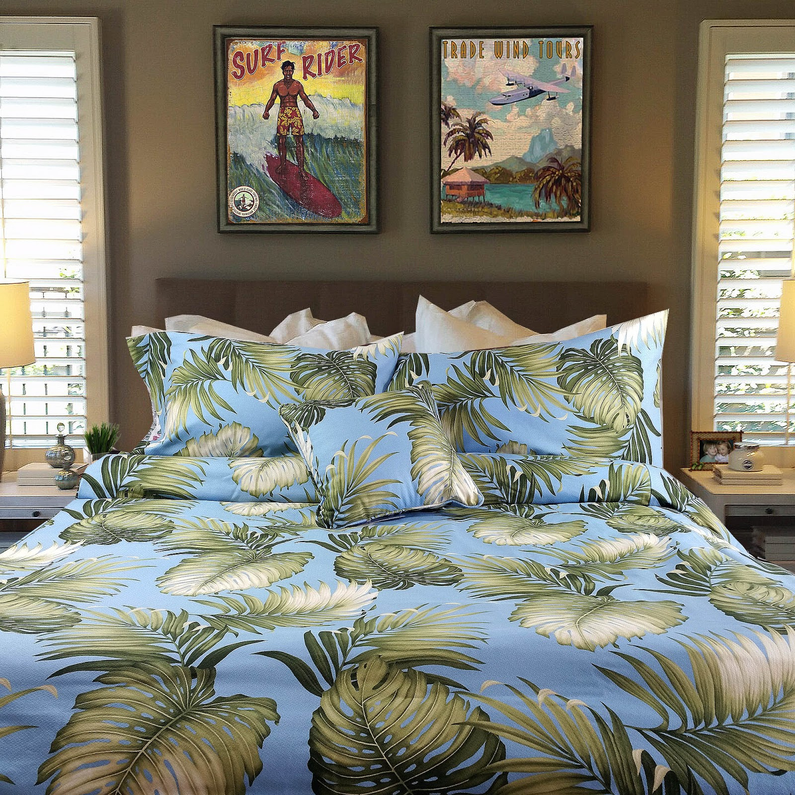 Hawaiian Home Design Ideas:  Hawaiian , Surf And Tropical Bedding: How To Create