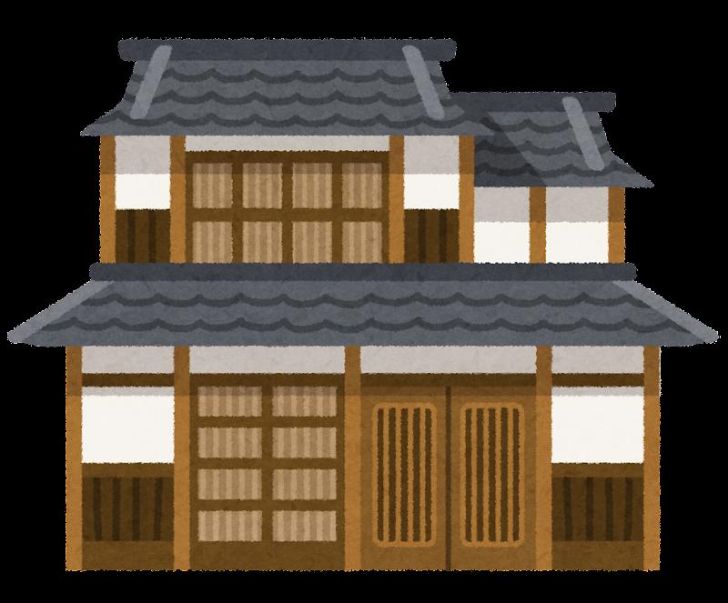 木造瓦屋根の、昔ながらの日本 ...