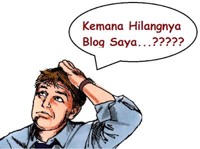 blog hilang dari google search