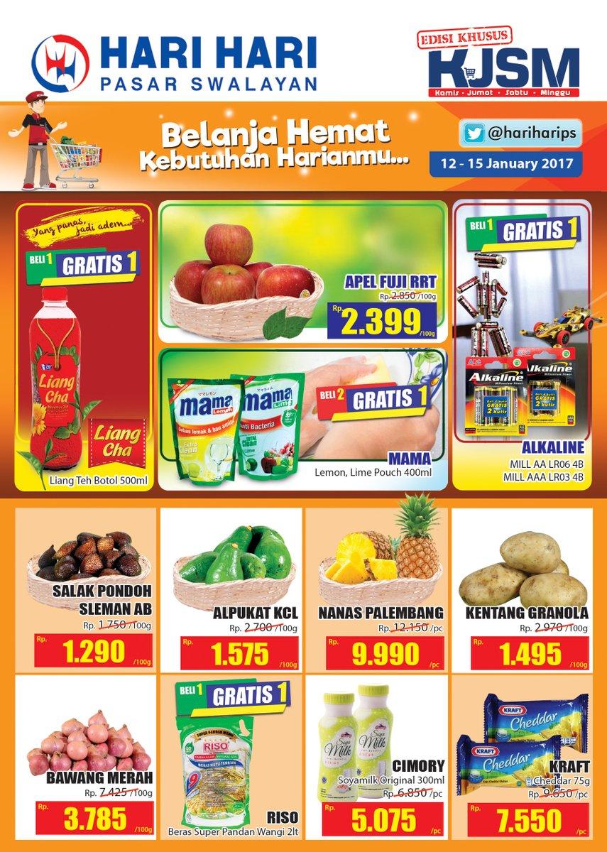 Katalog Harga Promo Hari Hari Pasar Swalayan 12 – 15 Januari 2017