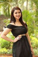 Mannara Chopra in Short Off Shoulder Black Dress ~  Exclusive 065.JPG