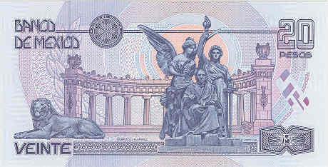 111 20 Pesos 25.8.2000 Banco de Mexico Commemorative VF or Better Mexico  P