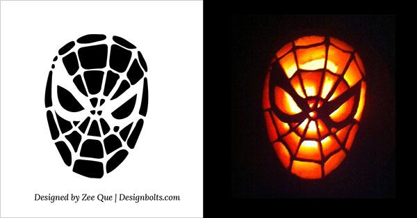 Download Free Printable spiderman pumpkin stencil Designs Funny