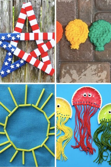 summer-yarn-crafts-for-kids