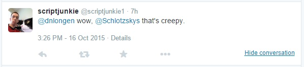 Wow @Schlotzskys, that's creepy