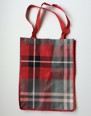 Red Plaid Target Shopping Tote for Red Card Holders