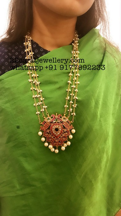 Pearls Chain with Kundan Silver Pendant