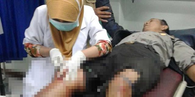 Bubarkan tawuran, dua polisi di Pondok Gede luka dibacok warga