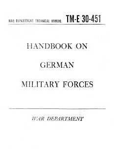 Handbook On German Military Forces, 15 March 1945.
