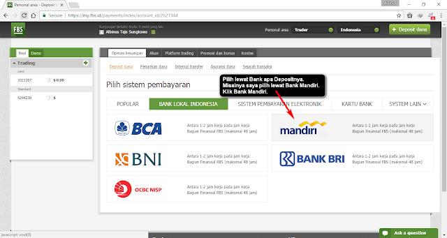 Trader Pemula - Cara Deposit di FBS - Catatantraderforex.com