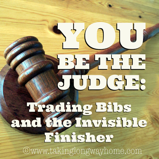 You Be The Judge: Trading Bibs and an Invisible Finisher