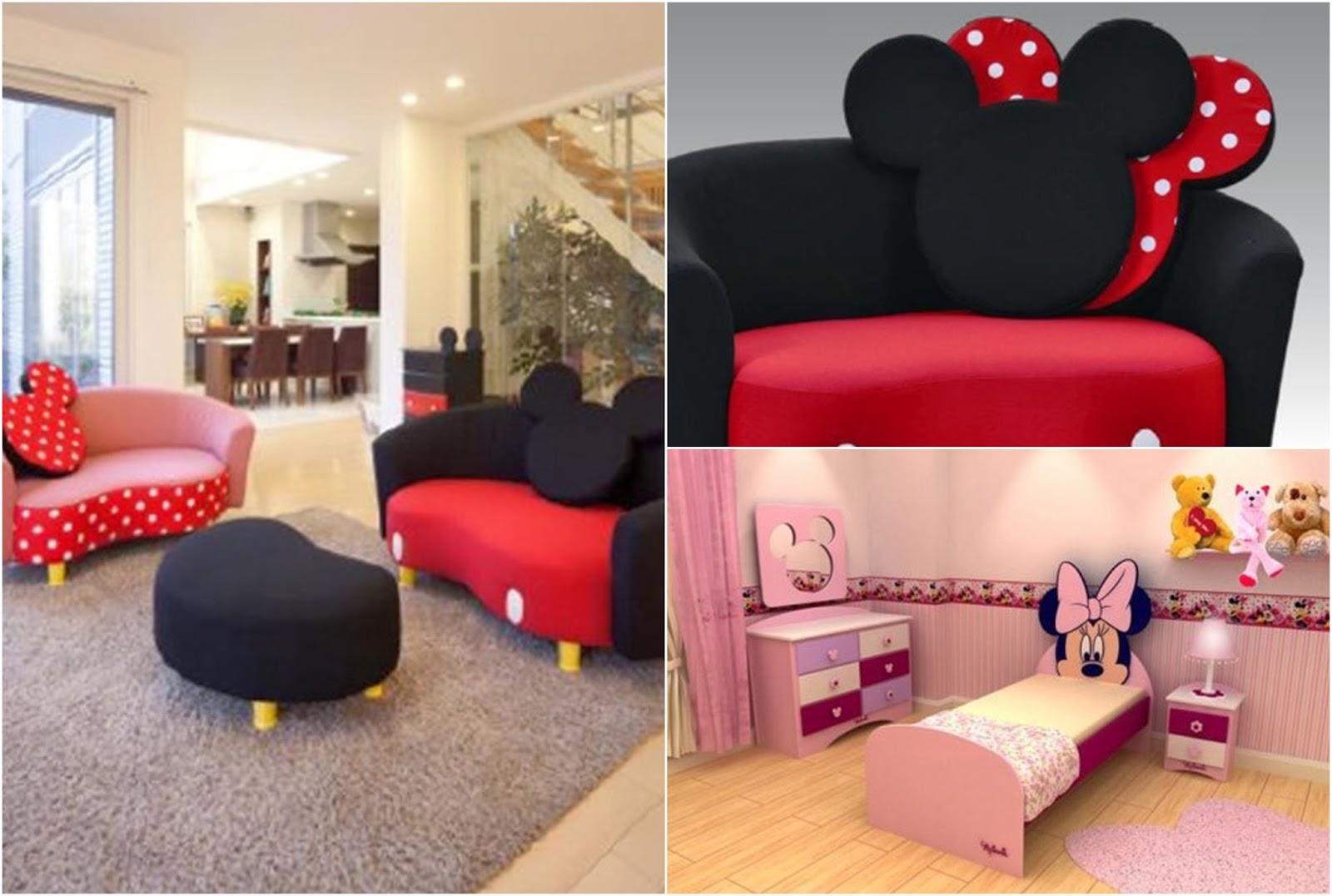 Dormitorio tem tico minnie mouse decoraci n del hogar - Muebles de mickey mouse ...