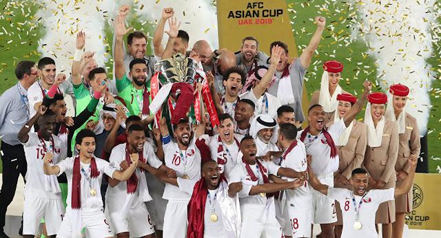 منتخب قطر يسقط اليابان بثلاثية ويتوج بكأس أسيا لأول مرة في تاريخة