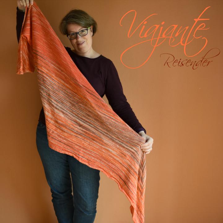 Viajante, oranges, gestricktes Tuch
