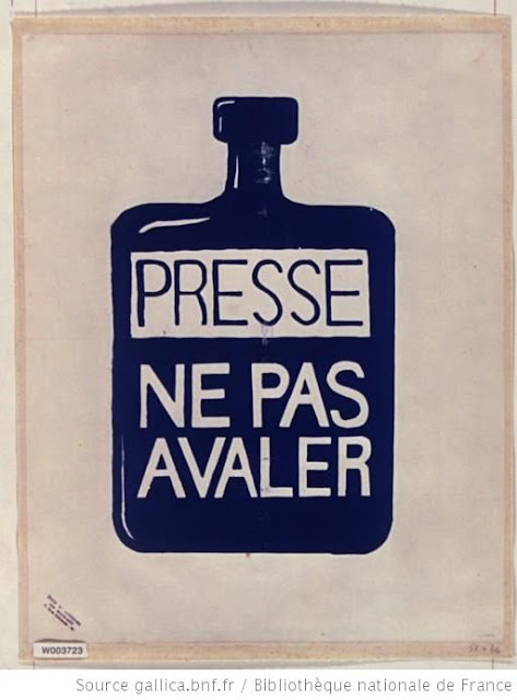 Affiche : Presse, ne pas avaler