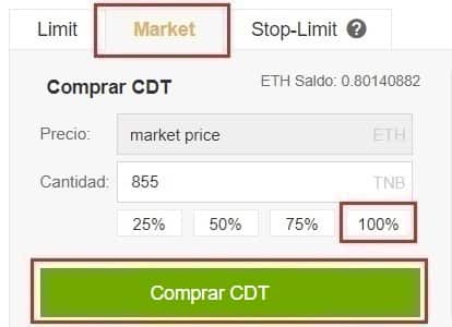 Comprar BLOX (CDT) y guardar en walletmonedero