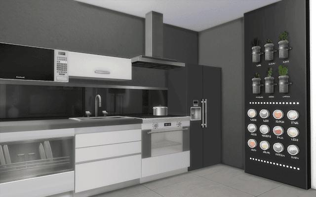 cuisine sims 4 moderne