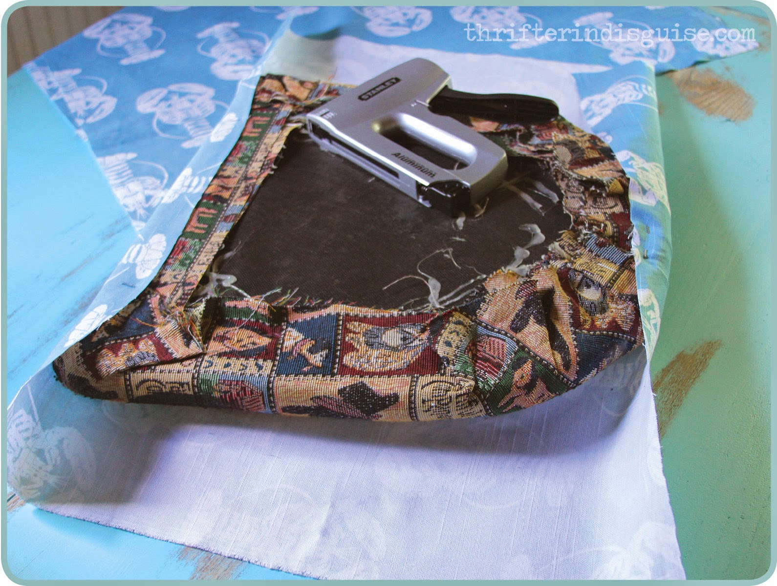 Staple Gun to Recover Cushion