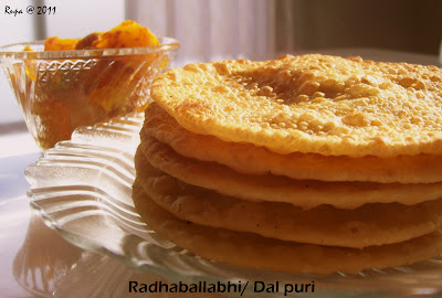 Rupa S Kitchen Radhaballabhi Dal Puri