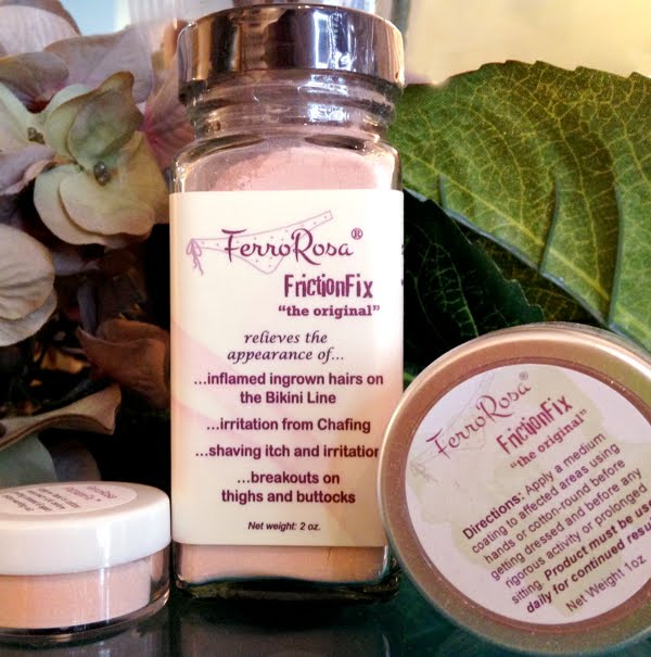FerroRosa FrictionFix body power for ingrown hairs and lower body breakouts.