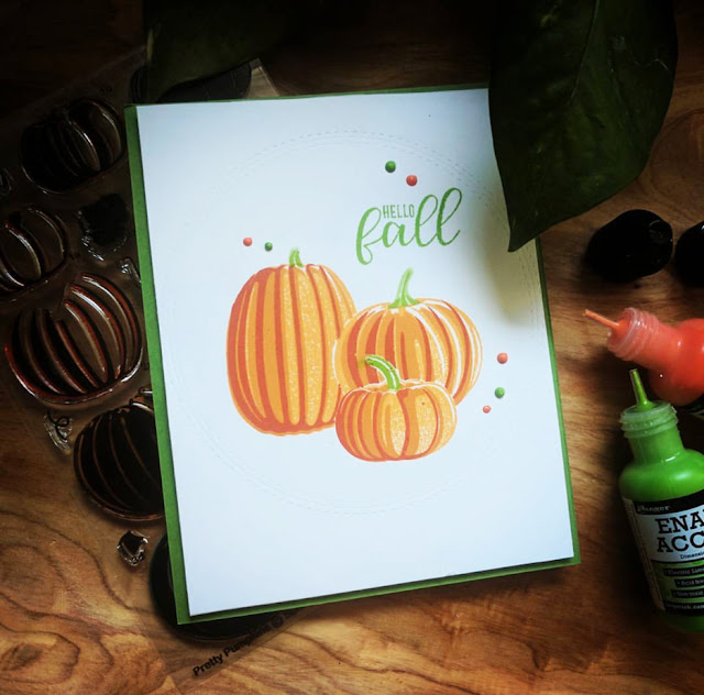 Sunny Studio Stamps: Pretty Pumpkins card by Kate