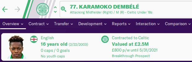 FM20 Wonderkid Analysis - Karamoko Dembele