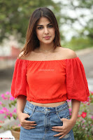 Rhea Chakraborty in Red Crop Top and Denim Shorts Spicy Pics ~  Exclusive 216.JPG